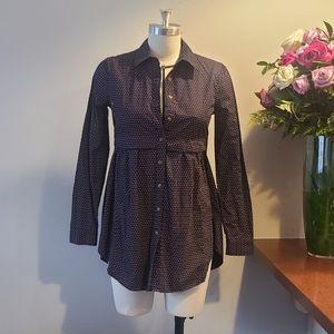 Maeve Blue Button-down Dress size XS